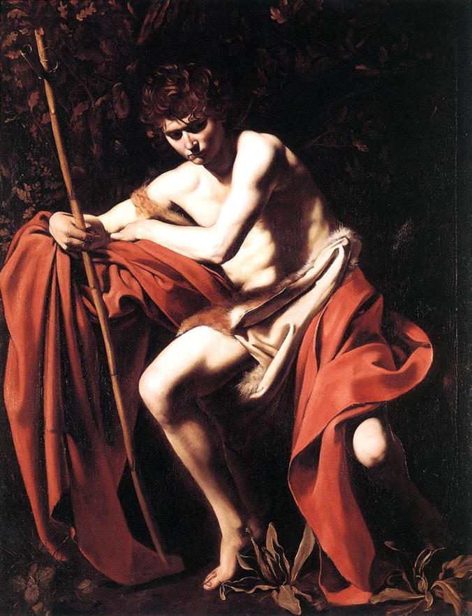 """Michelangelo Merisi, il """"San Giovanni Battista Costa"""", Museo"""