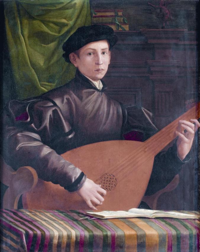 F. Salviati, Il suonatore di liuto