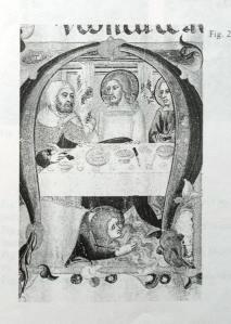 figura 2)  Lippo di Vanni, Cena in casa del Fariseo. Siena