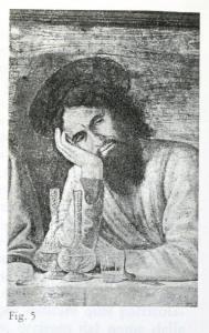 figura 5, Domenico del Ghirlandaio, Ultima Cena. Firenze, Chiesa di Ognissanti