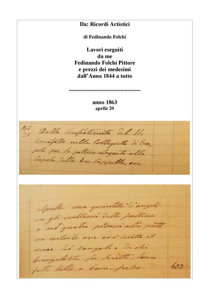 Documento manoscritto con il pagamento
