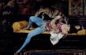 Giovane paggio che gioca con un levriero. 1869. Olio su tavola
