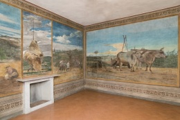 Villa La Falconiera. Sala da pranzo. 1868. Tempera su muro