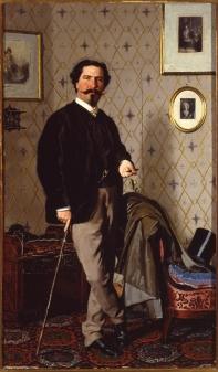 Ritratto di Cristiano Banti. 1866. Olio su tela