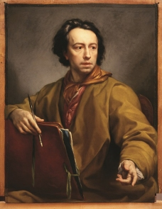 Anton Raphael Mengs (Ústí nad Labem 1728 – Roma 1779) Autoritratto con cartella da disegno e stilo, 1773 Olio su tavola Firenze, Galleria degli Uffizi