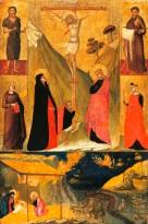 Fig.5, Ambrogio Lorenzetti, Crocifissione, quattro Santi, Natività e Annuncio ai pastori, tempera e oro su tavola, cm. 64,5 x 44,7, Francoforte, Städel Museum foto © Städel Museum / Artothek