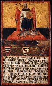 Fig.7. Ambrogio Lorenzetti, Il Buongoverno , tavoletta n. 16 (Gabella), tempera su tavola, cm. 41,8 x 24,7, Siena, Archivio di Stato (ASSI) © Archivio di Stato - foto Studio Lensini, Siena