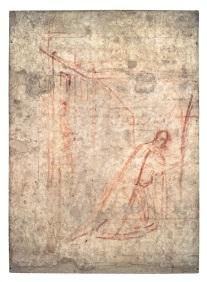 Fig. 8, Ambrogio Lorenzetti, Maestà e Storie di San Galgano, SINOPIE DOPO IL RESTAURO, dalla chiesa di San Galgano a Montesiepi (Chiusdino)