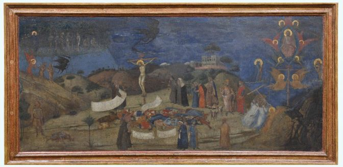 22. Allegoria della Redenzione 1338 circa Tempera e oro su tavola, 59,5 x 120 cm Siena, Pinacoteca Nazionale