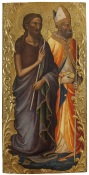 Fig. 3 Mariotto di Nardo (Firenze, 1365 circa – 1424 circa) San Giovanni Battista e San Nicola da Bari Tempere su tavola; cm 60 30. Galleria dell'Accademia di Firenze