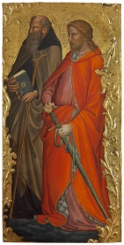 Fig. 4 Mariotto di Nardo (Firenze, 1365 circa – 1424 circa) Sant'Antonio abate e San Giuliano Tempere su tavola; cm 60 30. Galleria dell'Accademia di Firenze