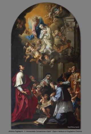 Antonio Puglieschi, L'Immacolata Concezione e Santi. Dopo il Restauro