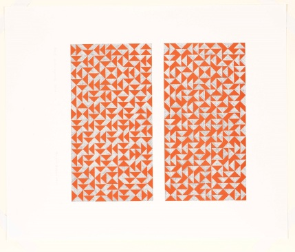 1) Anni Albers, Fox I, 1972, foto offset 2018 The Josef and Anni Albers Foundation