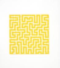 2) Anni Albers, Yellow Meander, 1970, serigrafia 2018 The Josef and Anni Albers Foundation