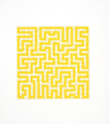 2) Anni Albers, Yellow Meander, 1970, serigrafia 2018 The Josef and Anni Albers Foundation