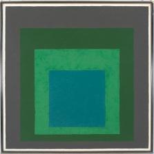 4) Josef Albers, Study for Homage to the Square_ Long Ago, 1962, olio su masonite 2018 The Josef and Anni Albers Foundation