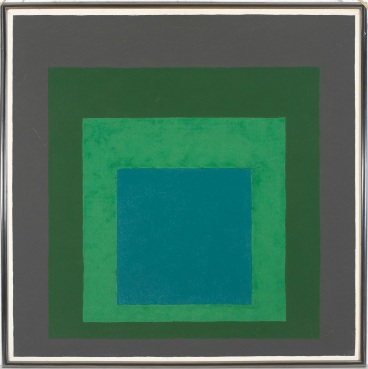 4) Josef Albers, Study for Homage to the Square_ Long Ago, 1962, olio su masonite 2018 The Josef and Anni Albers Foundation