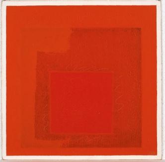 5) Josef Albers, Homage to the Square, 1969, olio su masonite 2018 The Josef and Anni Albers Foundation Sarà possible toccare l'opera