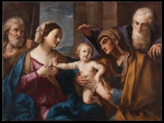 Fig. 10 Elisabetta Sirani(Bologna, 1638-1665) Sacra Famiglia con Sant'Anna e San Gioacchino(Sacra Famiglia delle ciliegie) 1662 circa Olio su tela Milano, Collezione privata