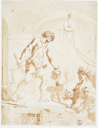 Fig. 1 Elisabetta Sirani(Bologna, 1638-1665) Decollazione di San Giovanni Battista Pietra nera, pennello e inchiostro diluito, carta Firenze, Gallerie degli Uffizi, Gabinetto dei Disegni e delle Stampe