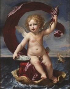 Fig. 11 Elisabetta Sirani(Bologna, 1638-1665) Amorino trionfante in mare (Amorino Medici) 1661 Olio su tela Bologna, collezione privata