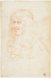 Fig. 5 Elisabetta Sirani(Bologna, 1638-1665) Ritratto del conte Annibale Ranuzzi Pietra rossa, carta Firenze, Gallerie degli Uffizi, Gabinetto dei Disegni e delle Stampe