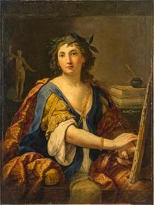 Fig. 8 Elisabetta Sirani(Bologna, 1638-1665) Allegoria della Pittura (autoritratto?) 1658 Olio sutela Mosca, The Pushkin State Museum of Fine Arts