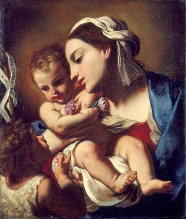 Fig. 9 Elisabetta Sirani(Bologna, 1638-1665) Madonna col Bambino e San Giovannino 1664 Olio su tela Pesaro, Comune di Pesaro, Musei Civici – Palazzo Mosca